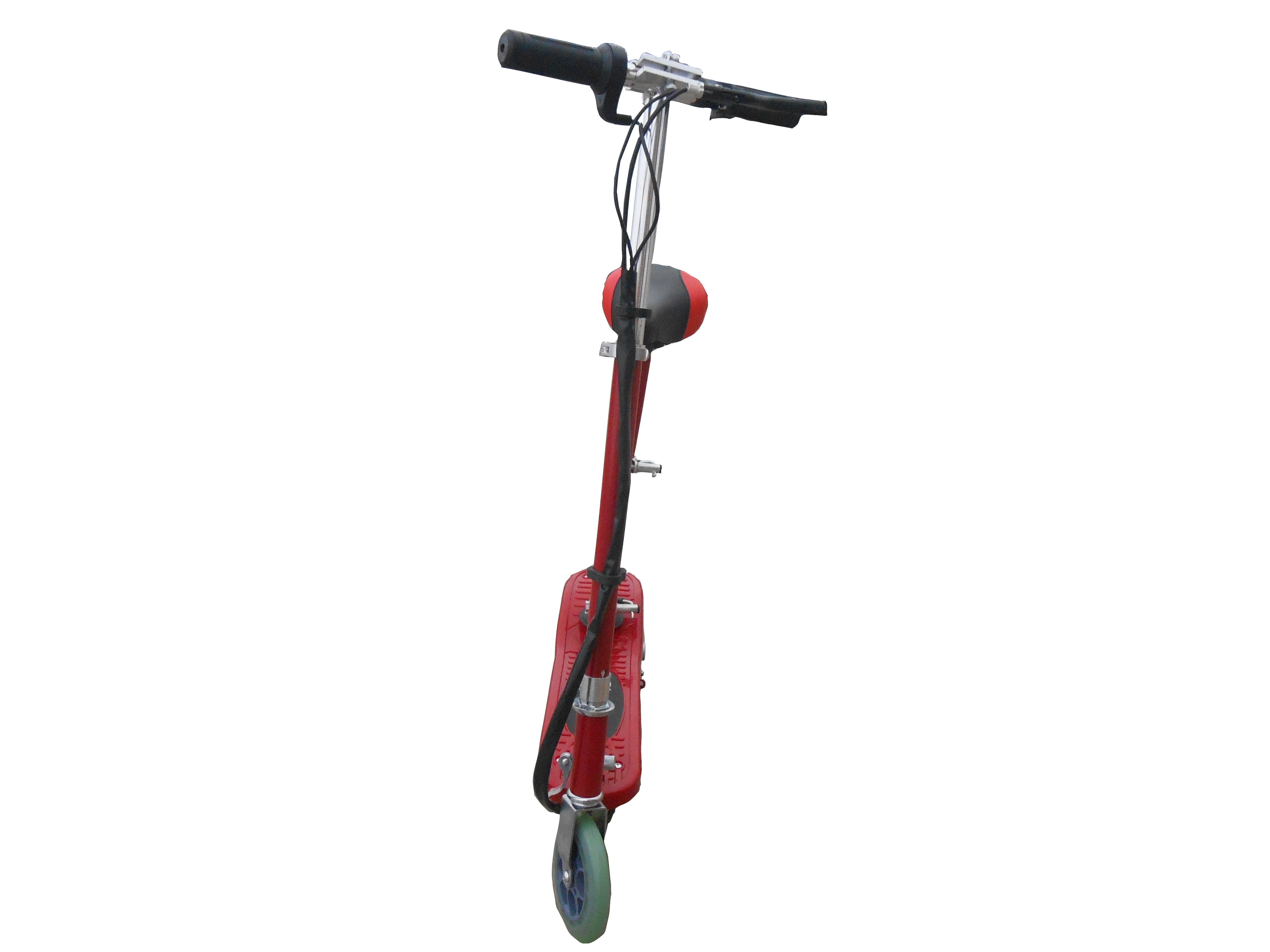 red kids electric scooter with seat - eskooter