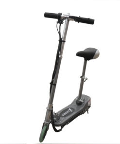 Silver Kids Electric Scooter With Seat Eskooter Free