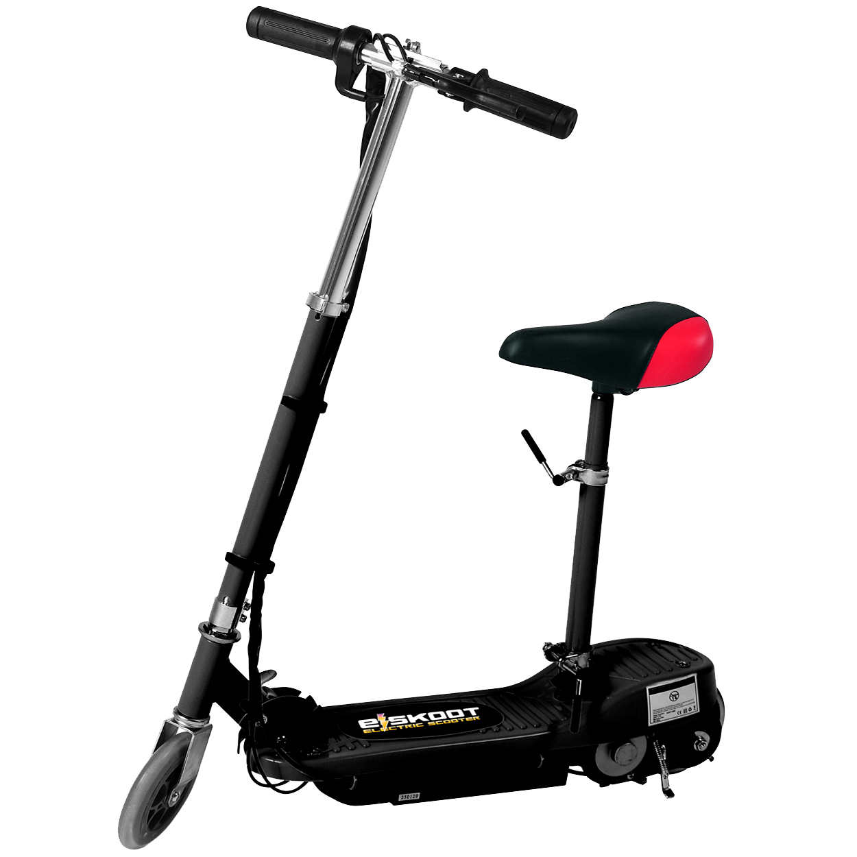 Black Kids Electric Scooter With Seat Eskooter Free Uk