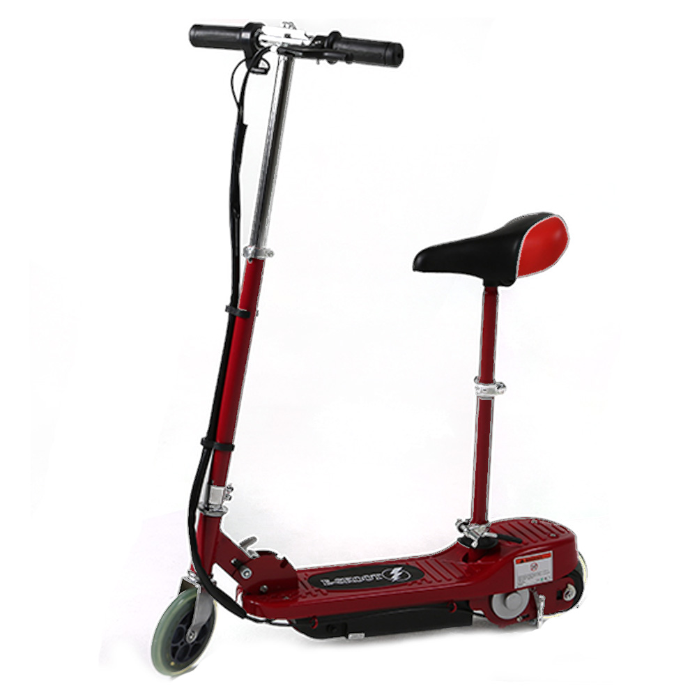 red electric scooter with seat kids electric scooters by. Black Bedroom Furniture Sets. Home Design Ideas