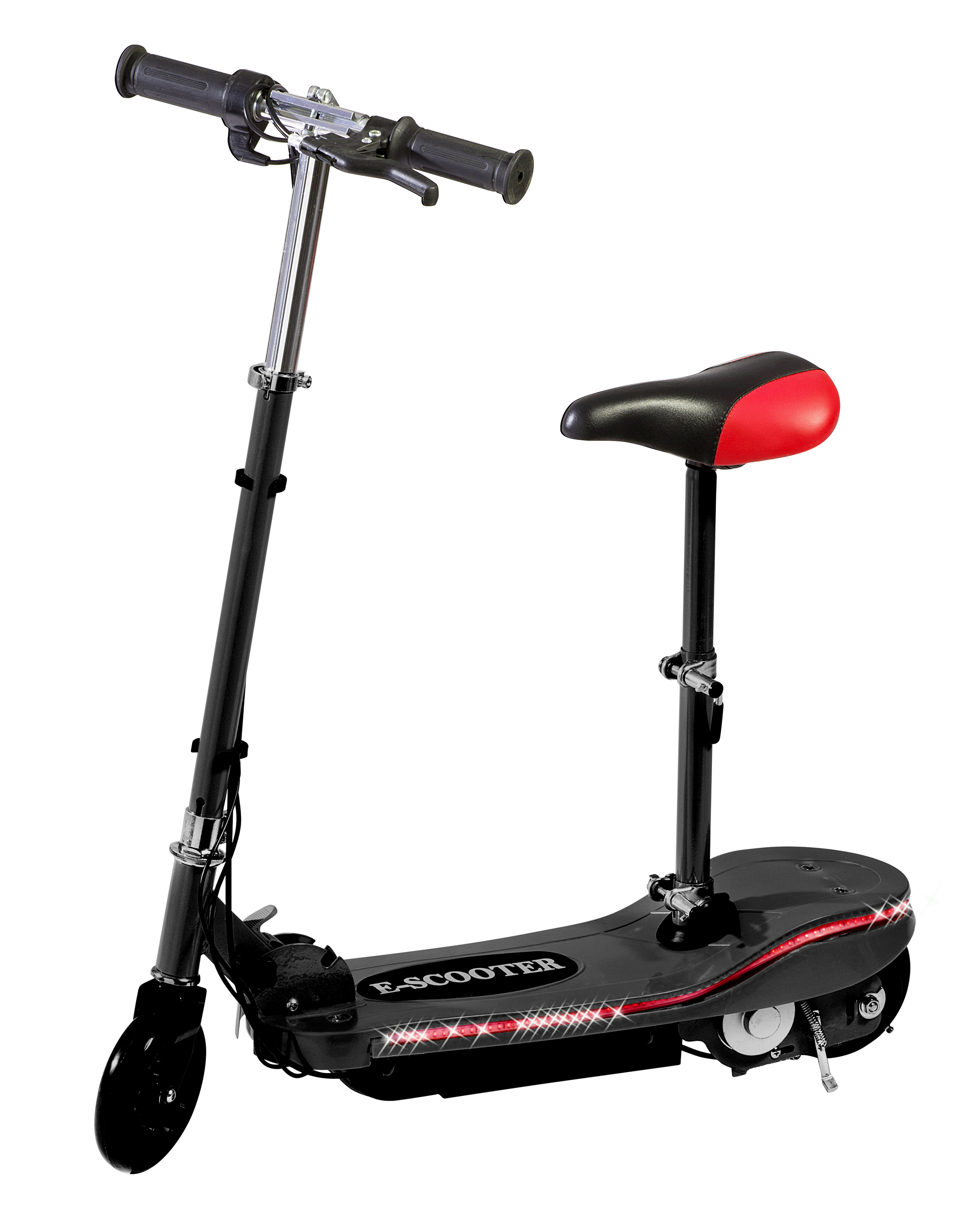 Electric Scooter With Seat >> Black Electric Scooter With Seat Special Led Lights Kids