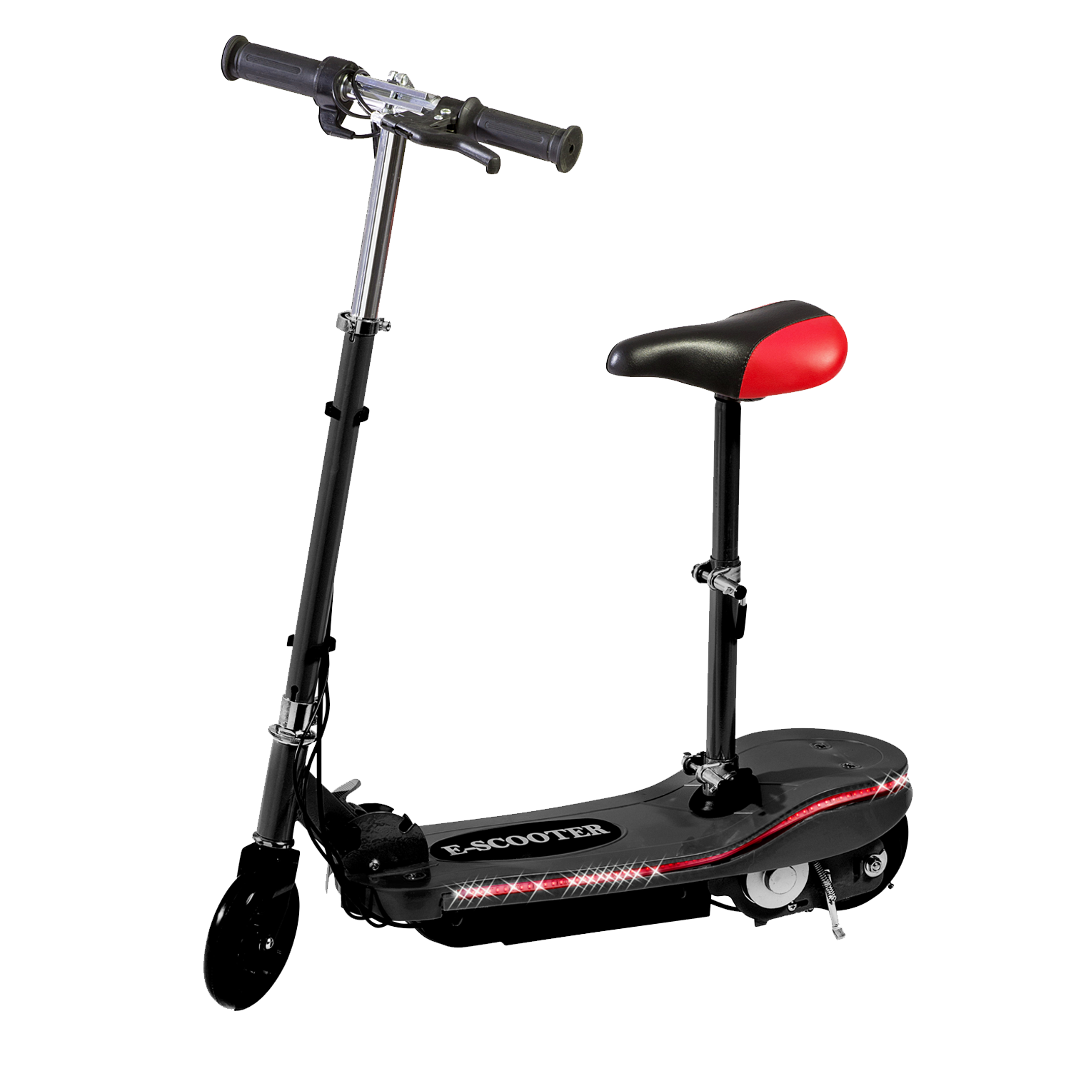 Electric Scooter With Seat >> Black Electric Scooter With Seat Special Led Lights